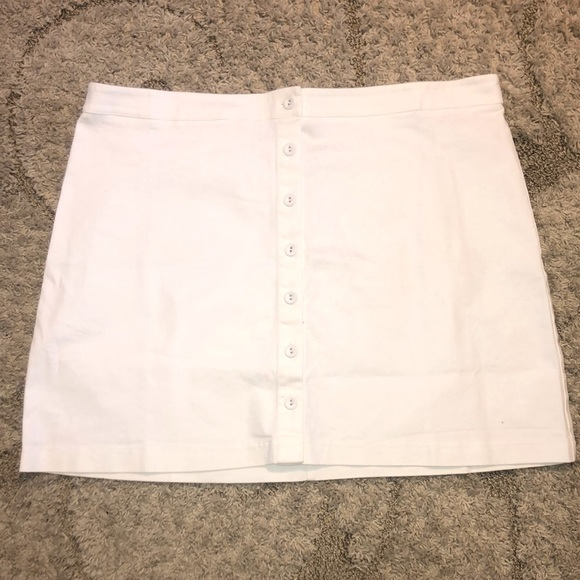 NWT White Denim Skirt with Buttons